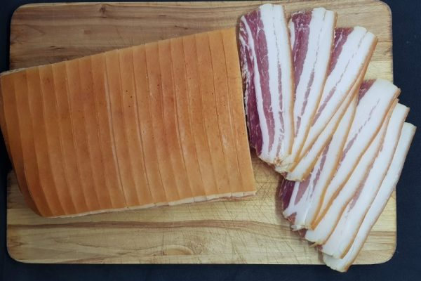 Tørsaltet bacon